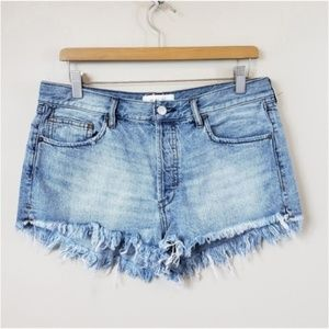 Free People We The Free | Frayed Hem Denim Shorts